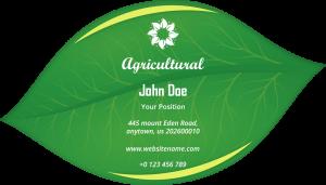 agricultural business card design