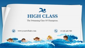 swimming business card design