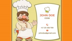 cook business card template