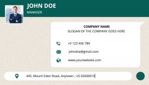 whats app type business card template