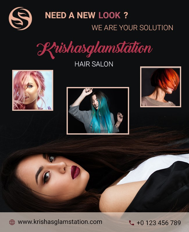 hair stylist poster template