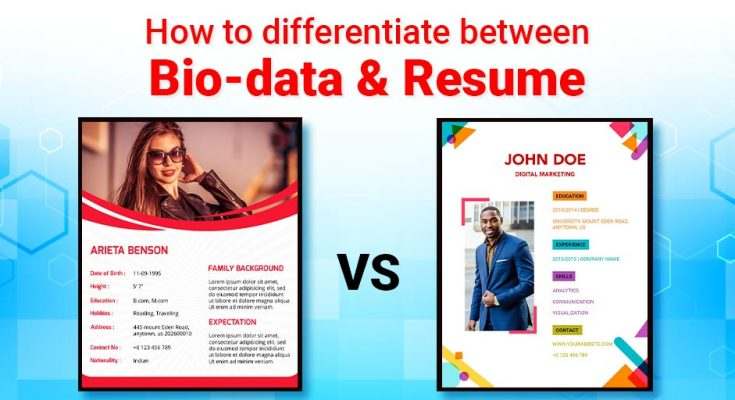 difference between biodata and resume