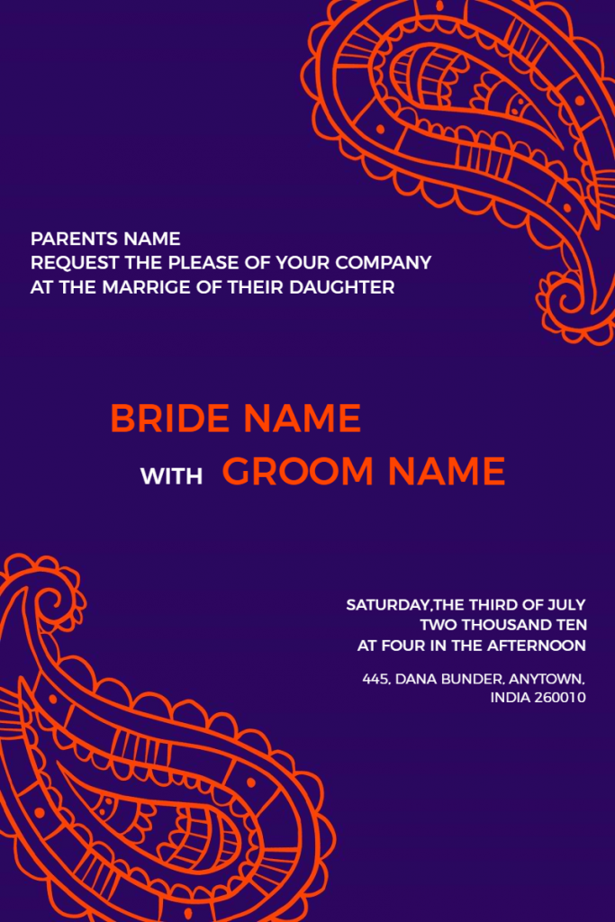 classic wedding invtation template