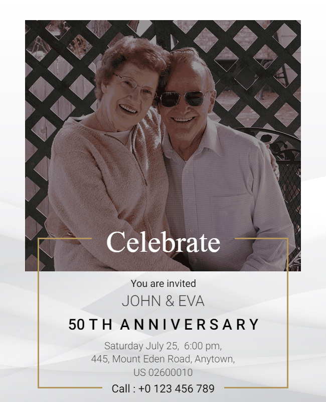 50th anniversory template