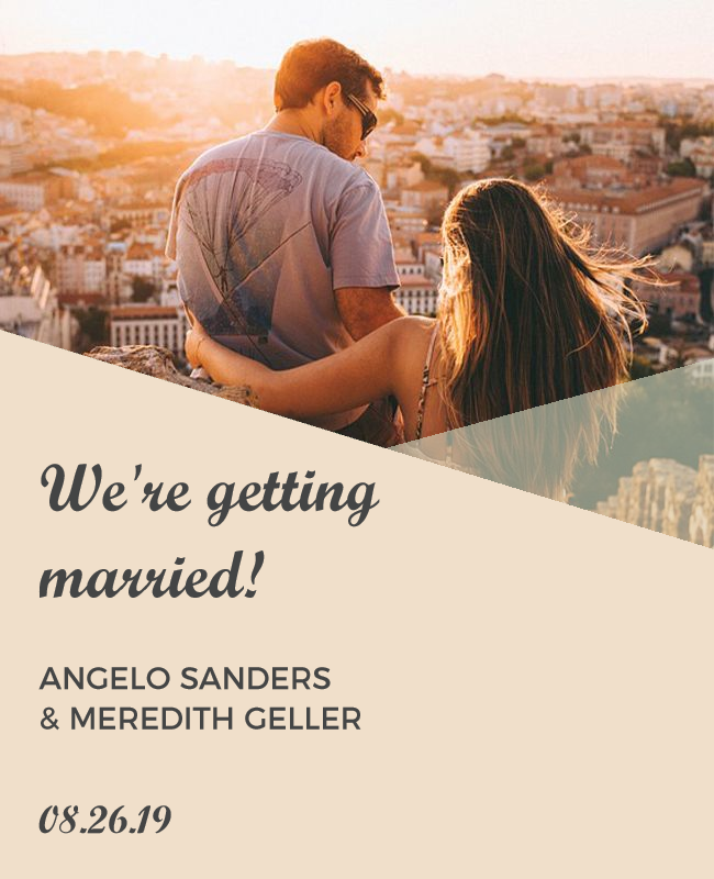 we are merried template