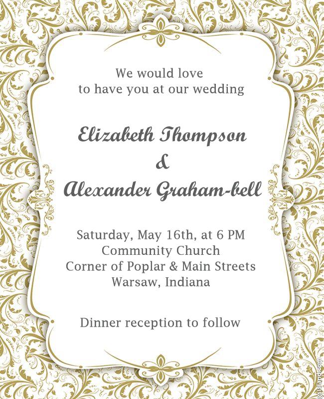wedding announce template