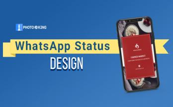 whats app status design
