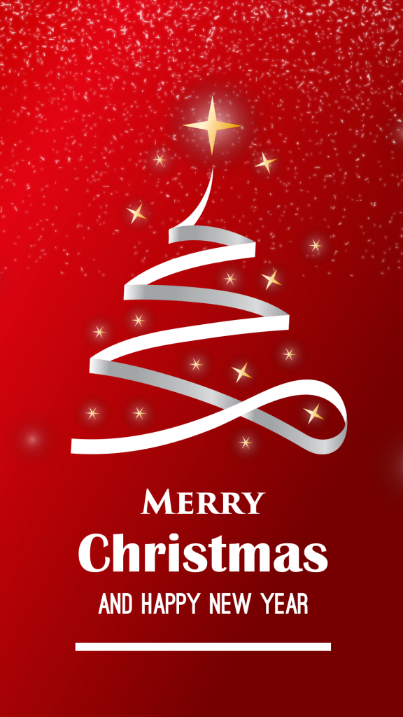 christmas and new year wishes template
