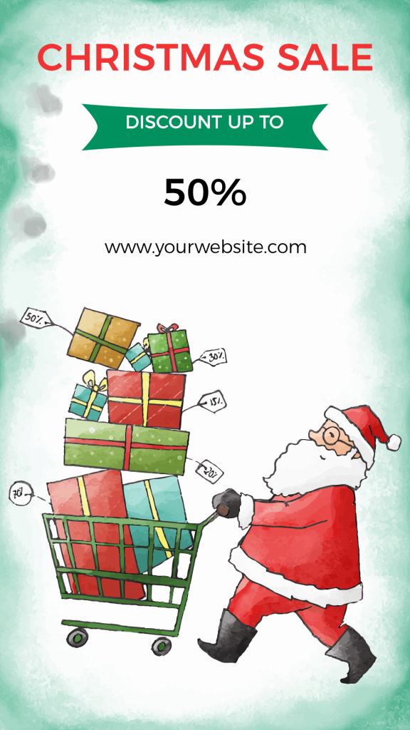 christmas discount sales template
