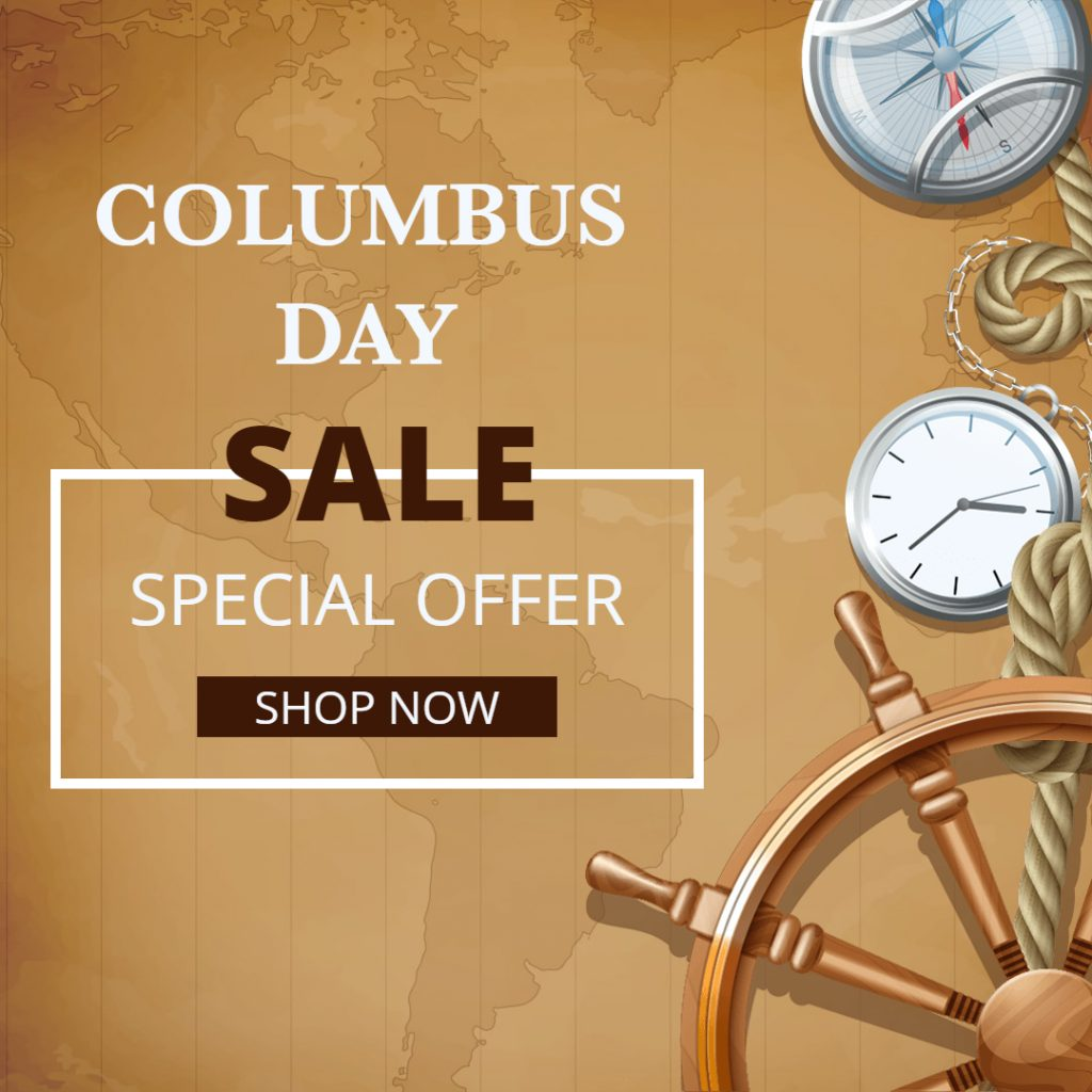 columbas day sale template