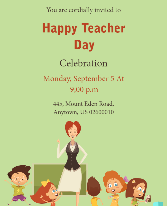 happy teachers day template