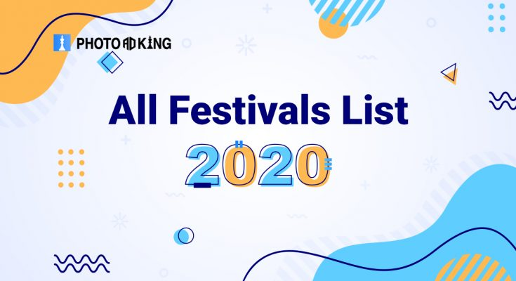 All festivals list 2020