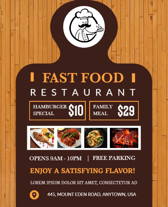 fastfood menu