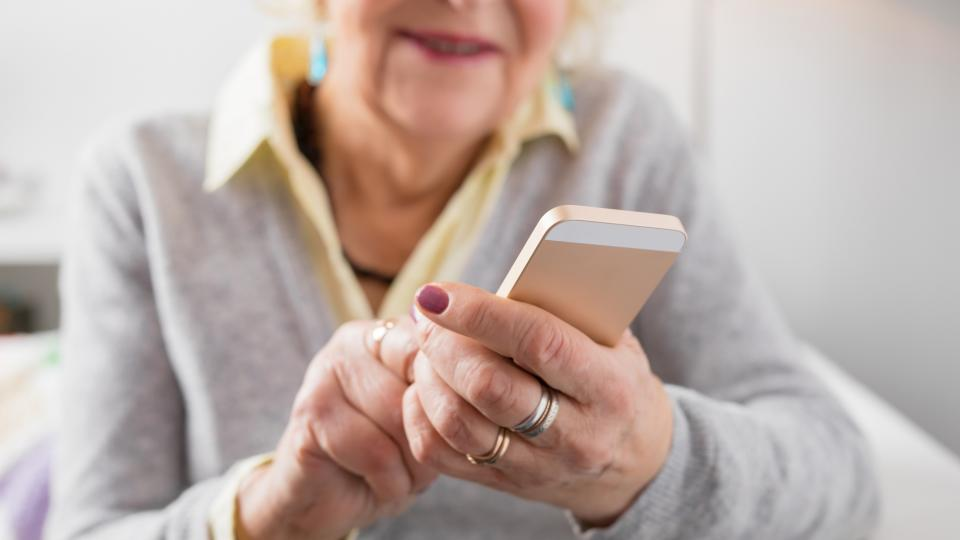 granny with mobile