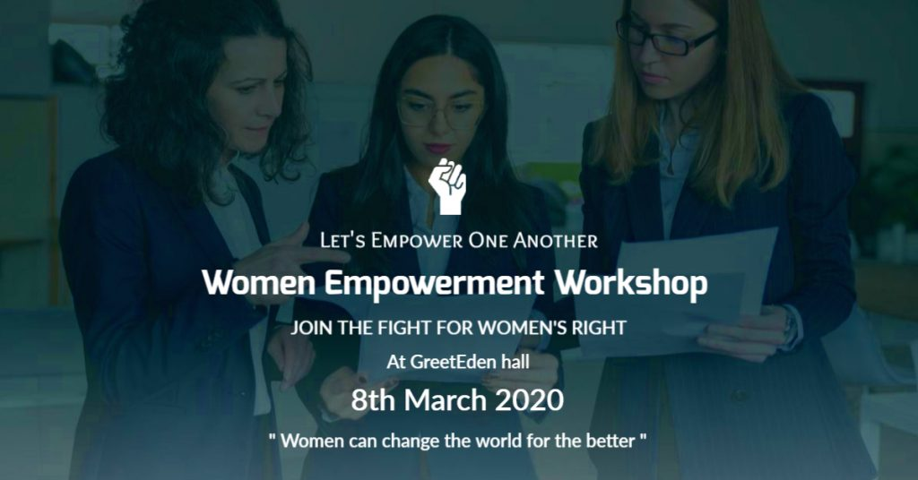women empowerment workshop invitation template