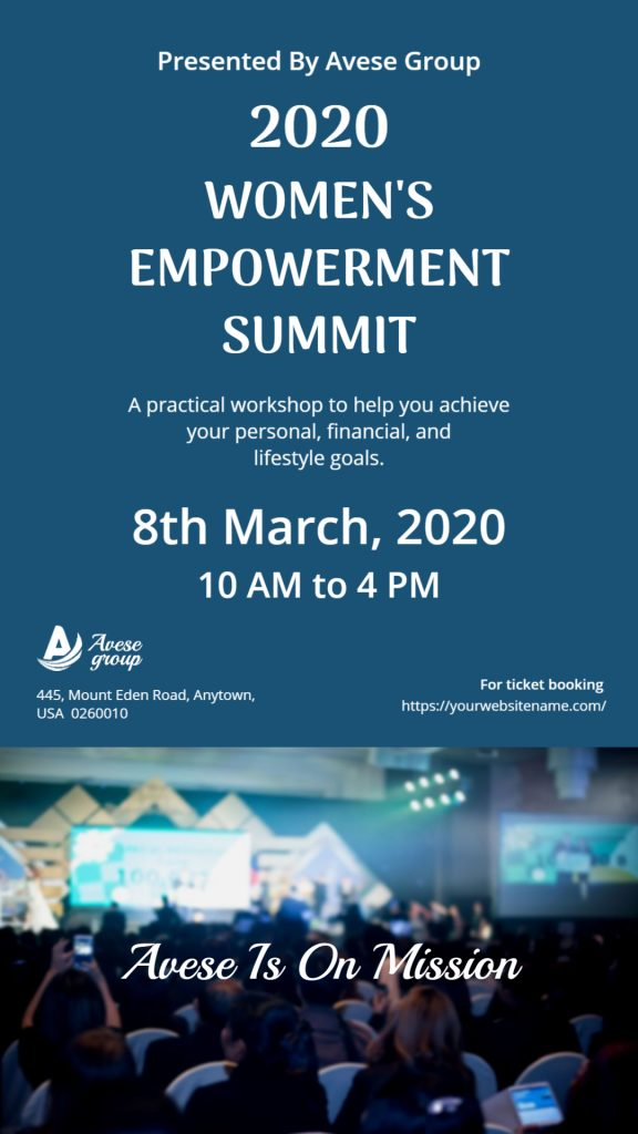 women's empowerment summit template