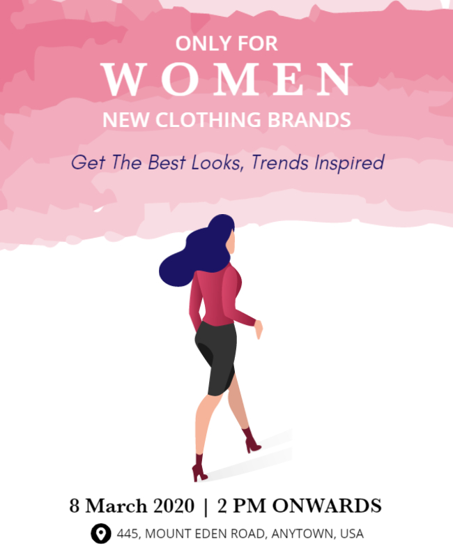 women day invitation card