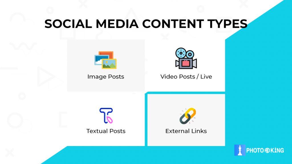 social media post content types