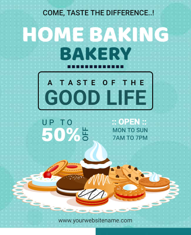 Home Baking Bakery Restaurant Flyer Templates