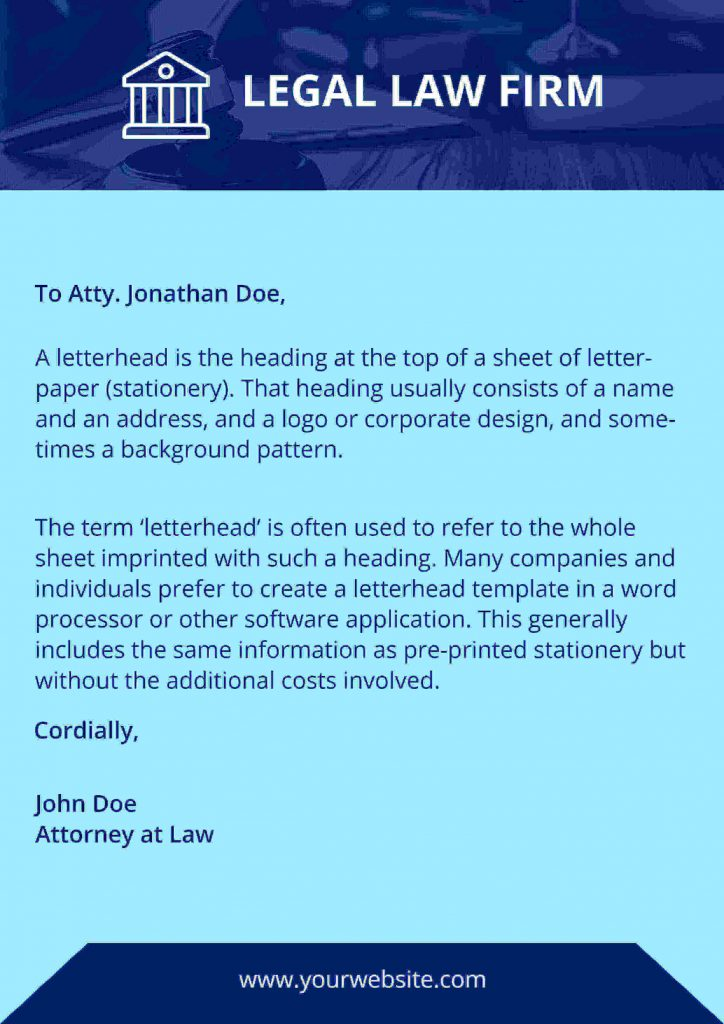 Legal documentation letterhead templates