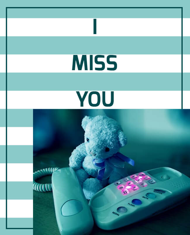 Miss You Cards Templates