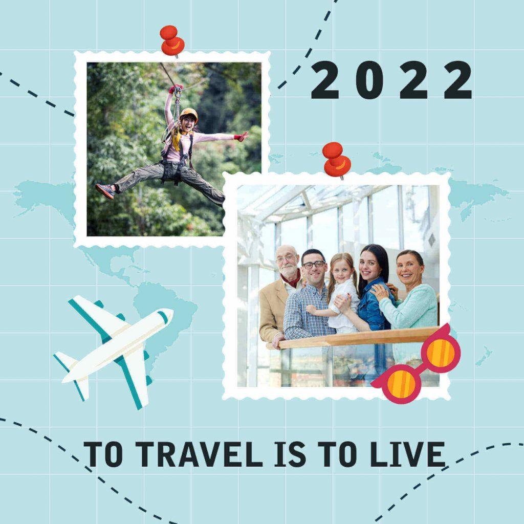 Travel album cover templates