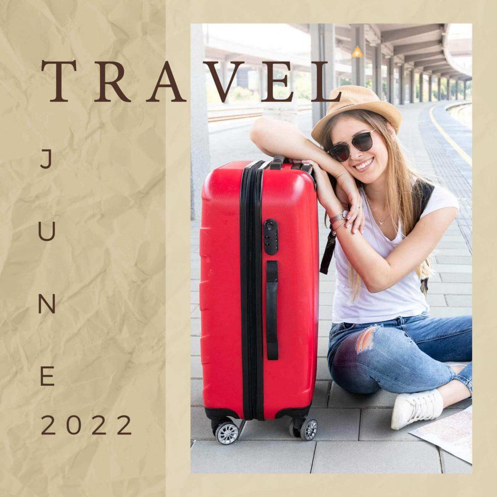 Travel scrapbook album cover templates