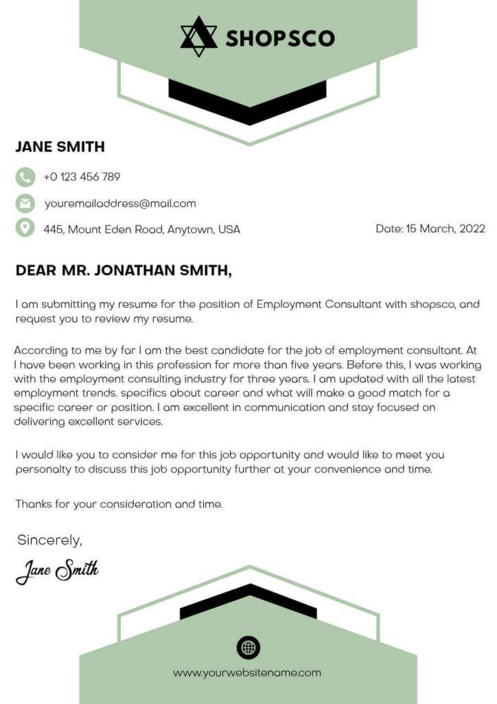 Application Letterhead Templates
