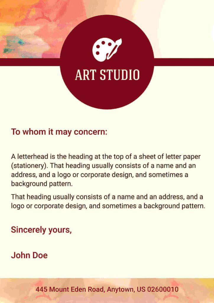 Inter department communication  Letterhead templates