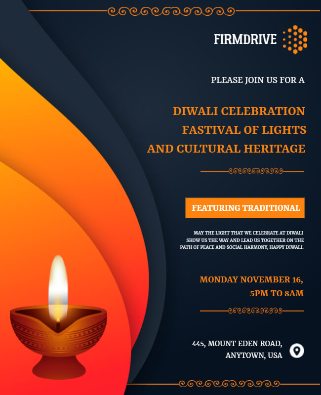 Diwali campaign poster templates
