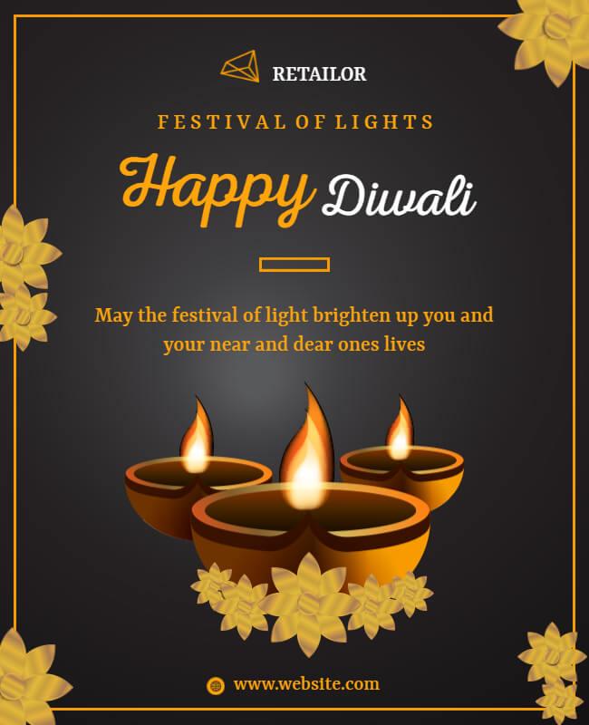 Diwali cards templates
