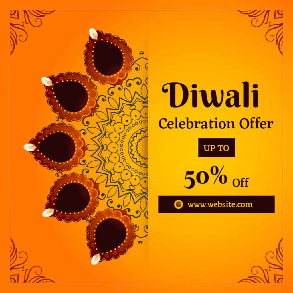 Diwali card for instagram