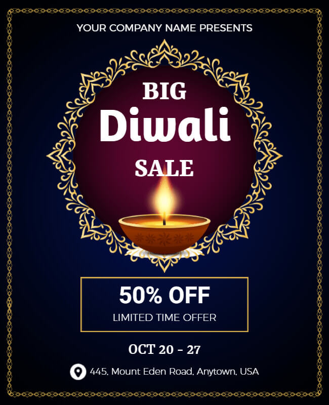 Happy diwali poster templates