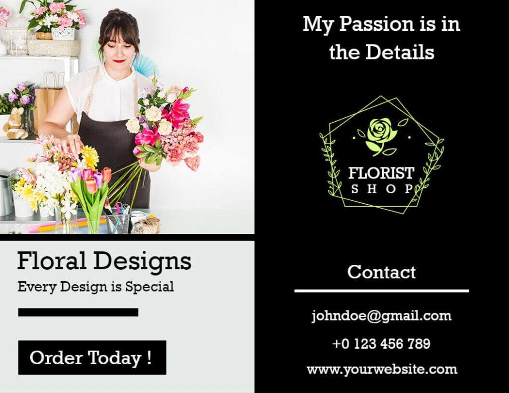 Florist pamphlet templates
