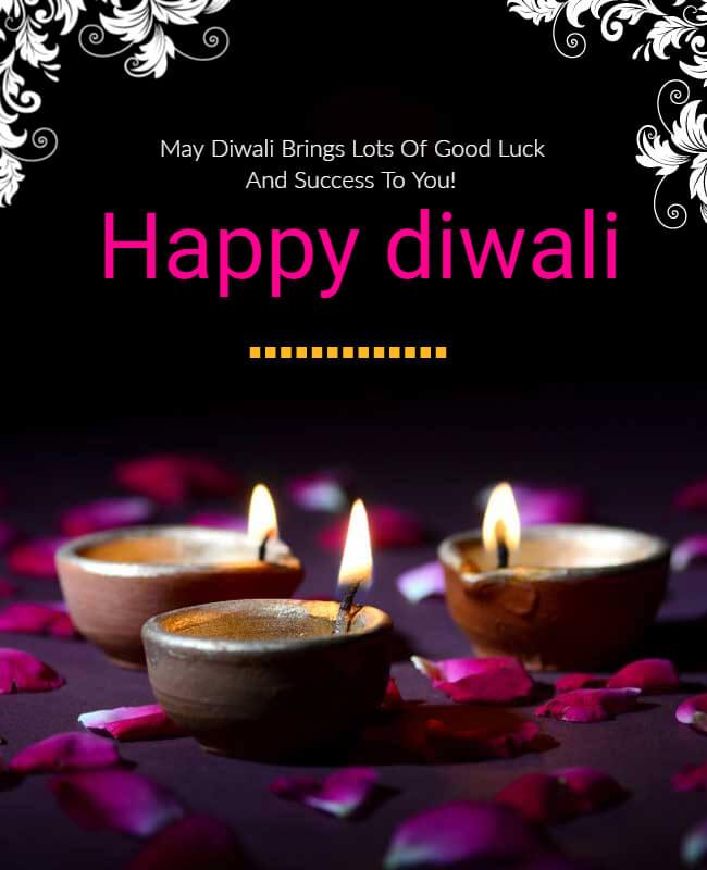 Diwali poster templates for Social Media marketing