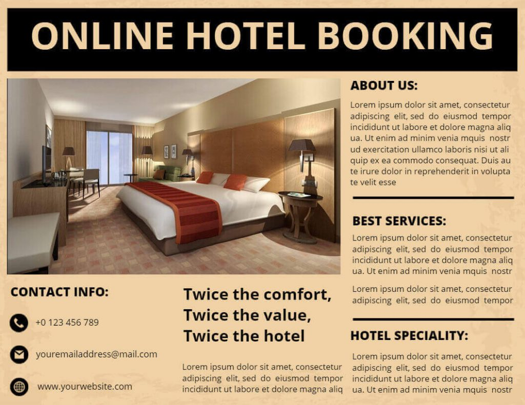 Hotel pamphlet template