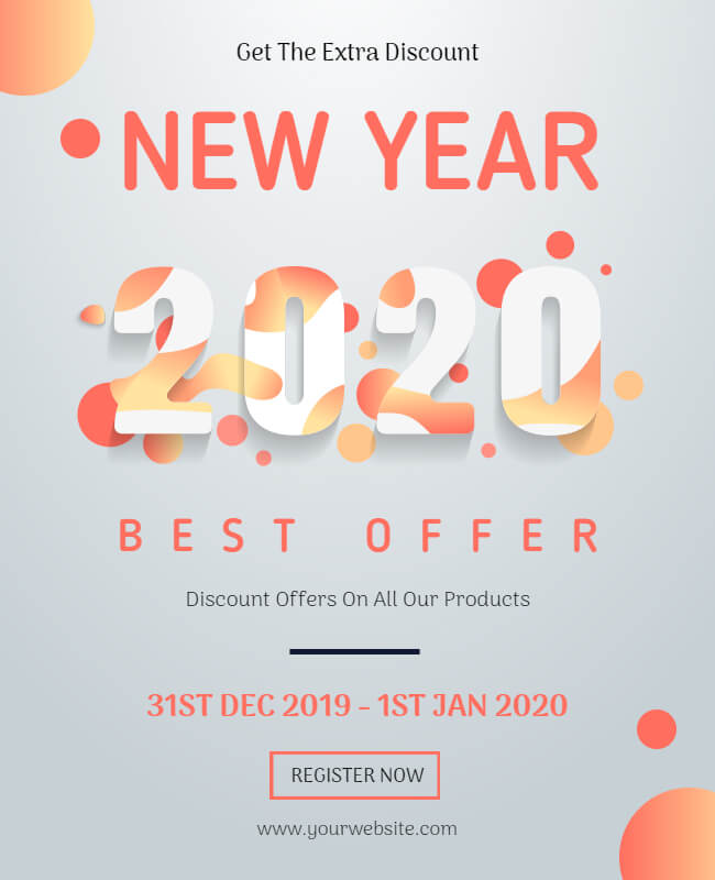 New Year Poster Templates