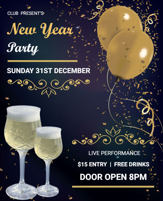 New Year party templates