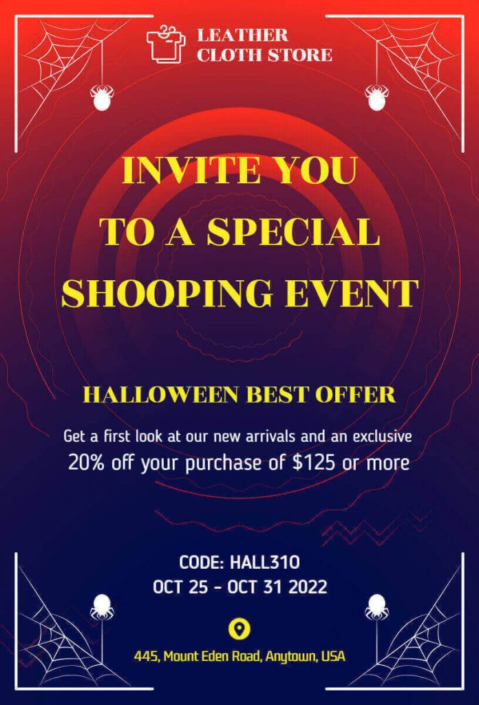 Simpler halloween invitation templates