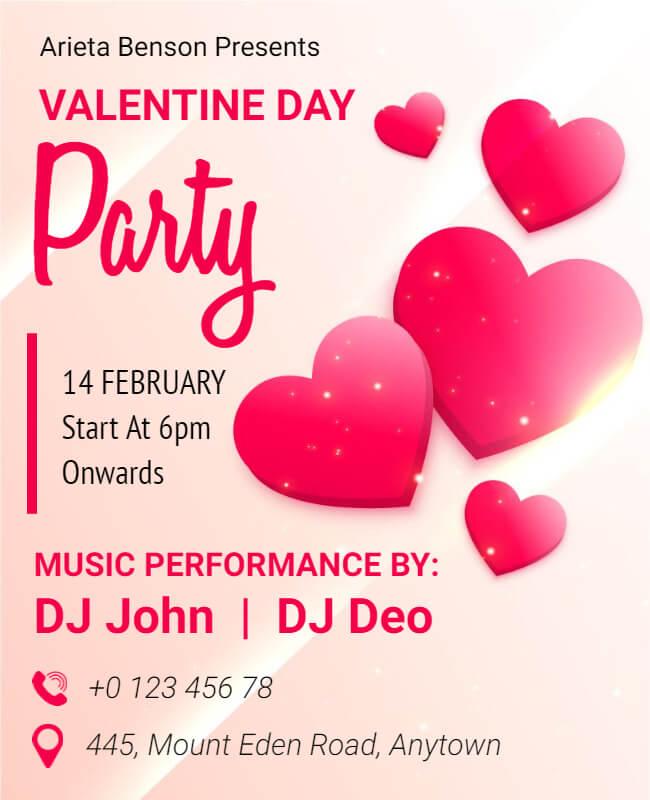valentine's poster templates