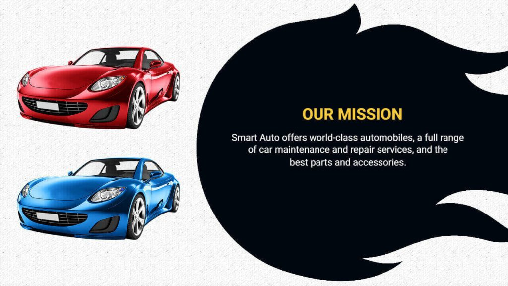Automobile presentation template