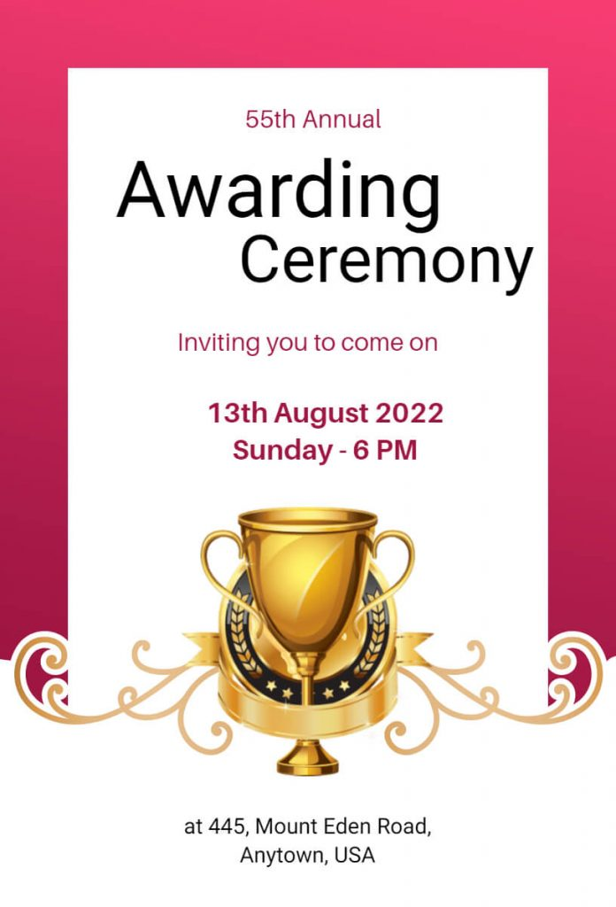 Ceremony Invitation Templates