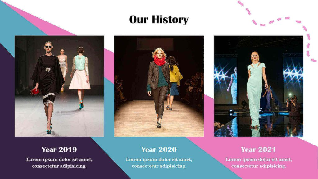 Fashion presentation templates