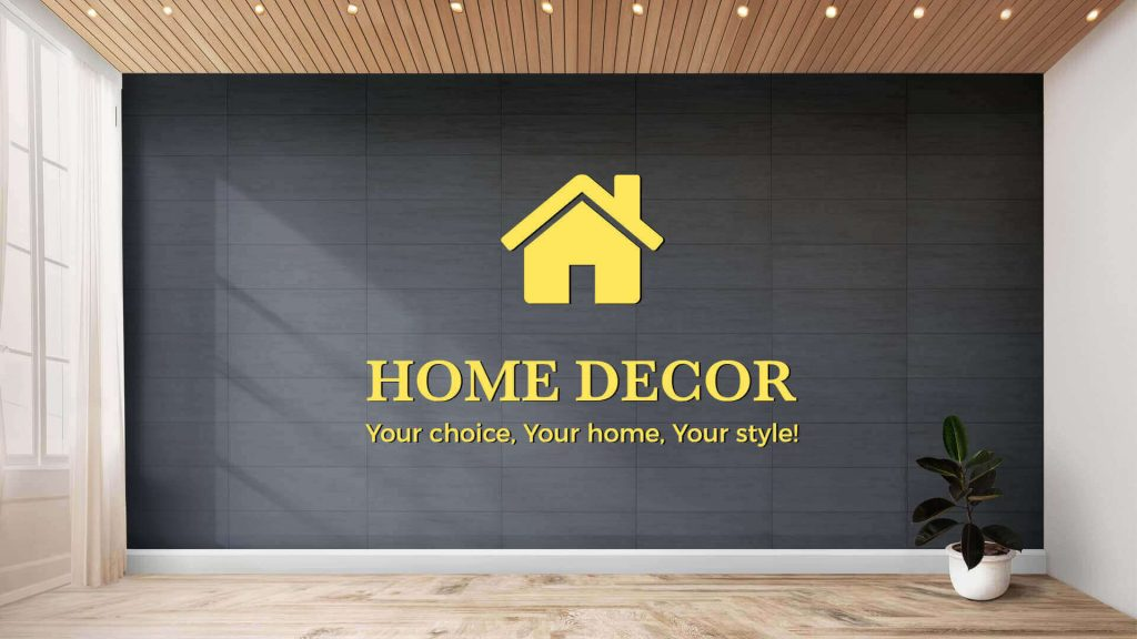 Home-decor presentation template