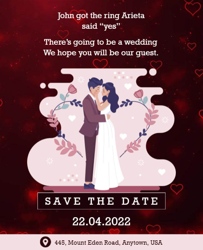 Lovey-dovey save the date templates