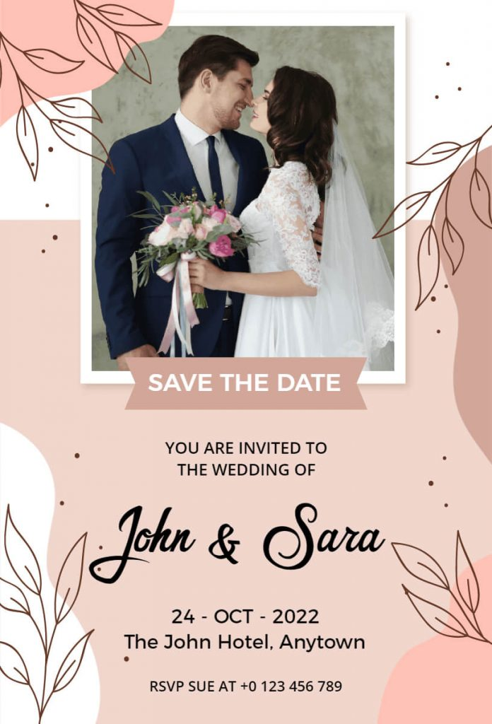 Photo-based save the date template