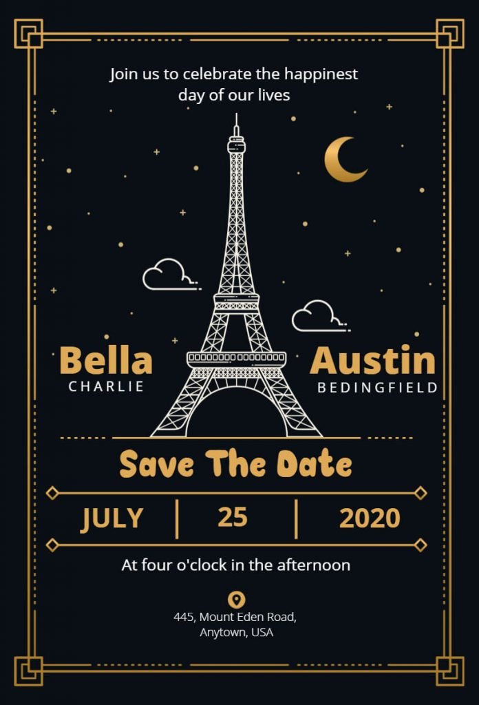 Save the date announcement