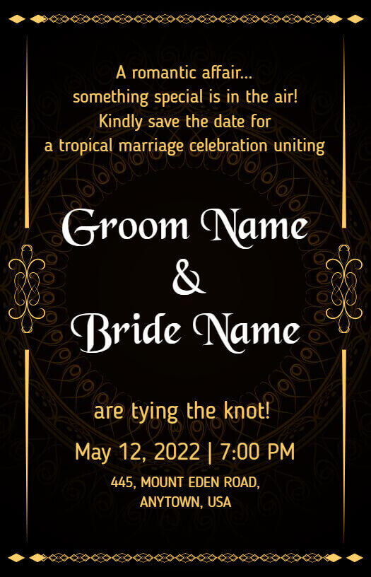 save the date announcement templates