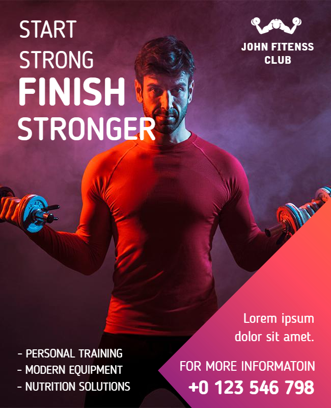 gym flyer design