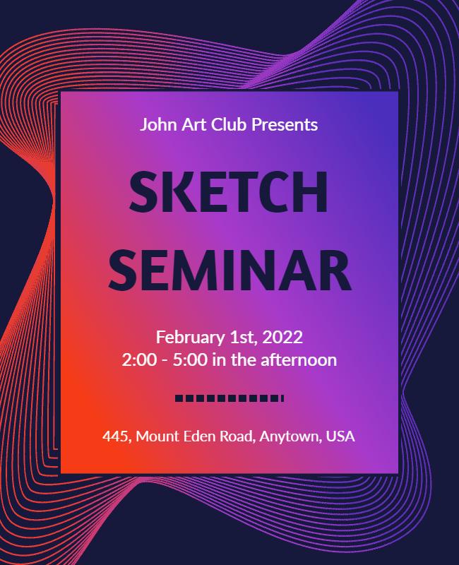 sketch seminar flyer